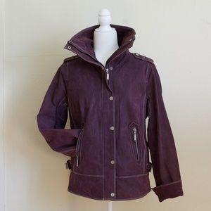 Bradley Bayou Purple Leather Jacket